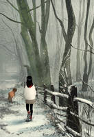 You see the snow  you smell the trees by PascalCampion