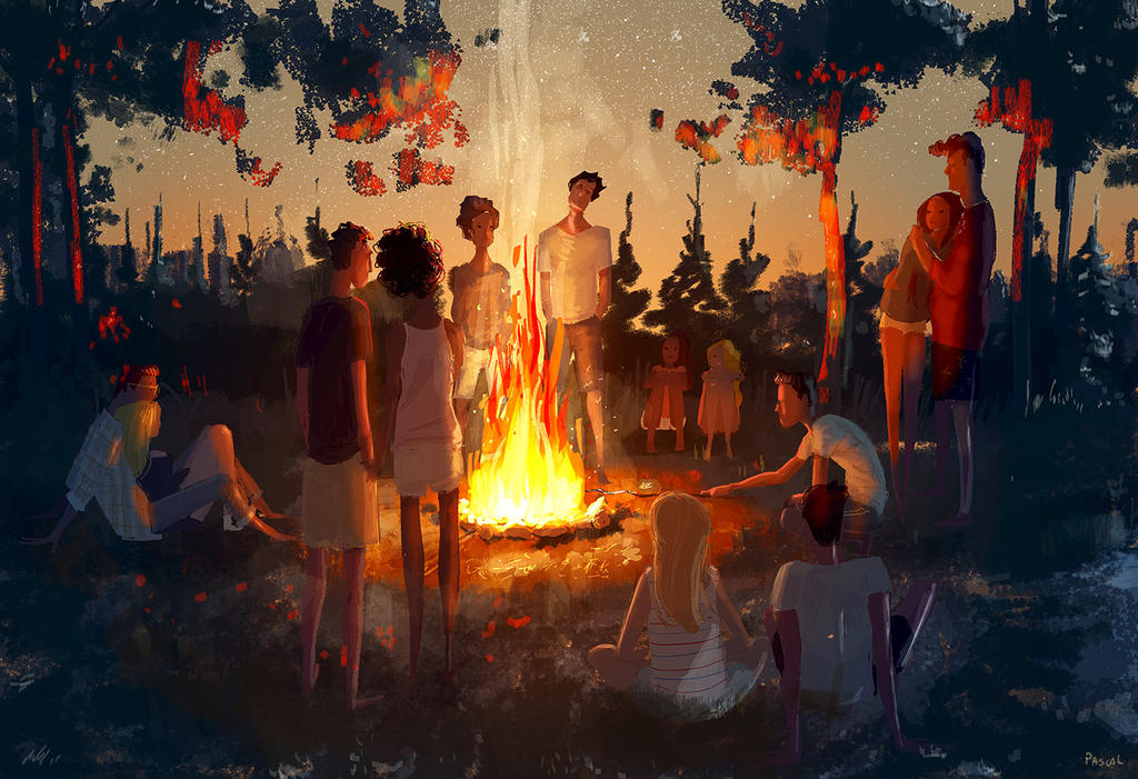 The last camp fire