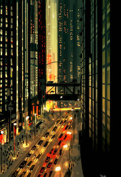 City lights.