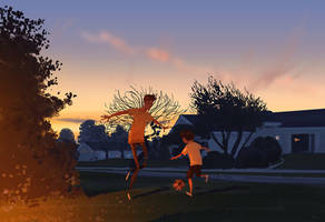 Spring night soccer. by PascalCampion