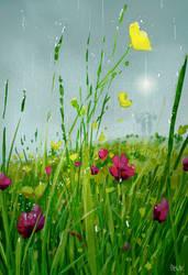 Rainy flower days.