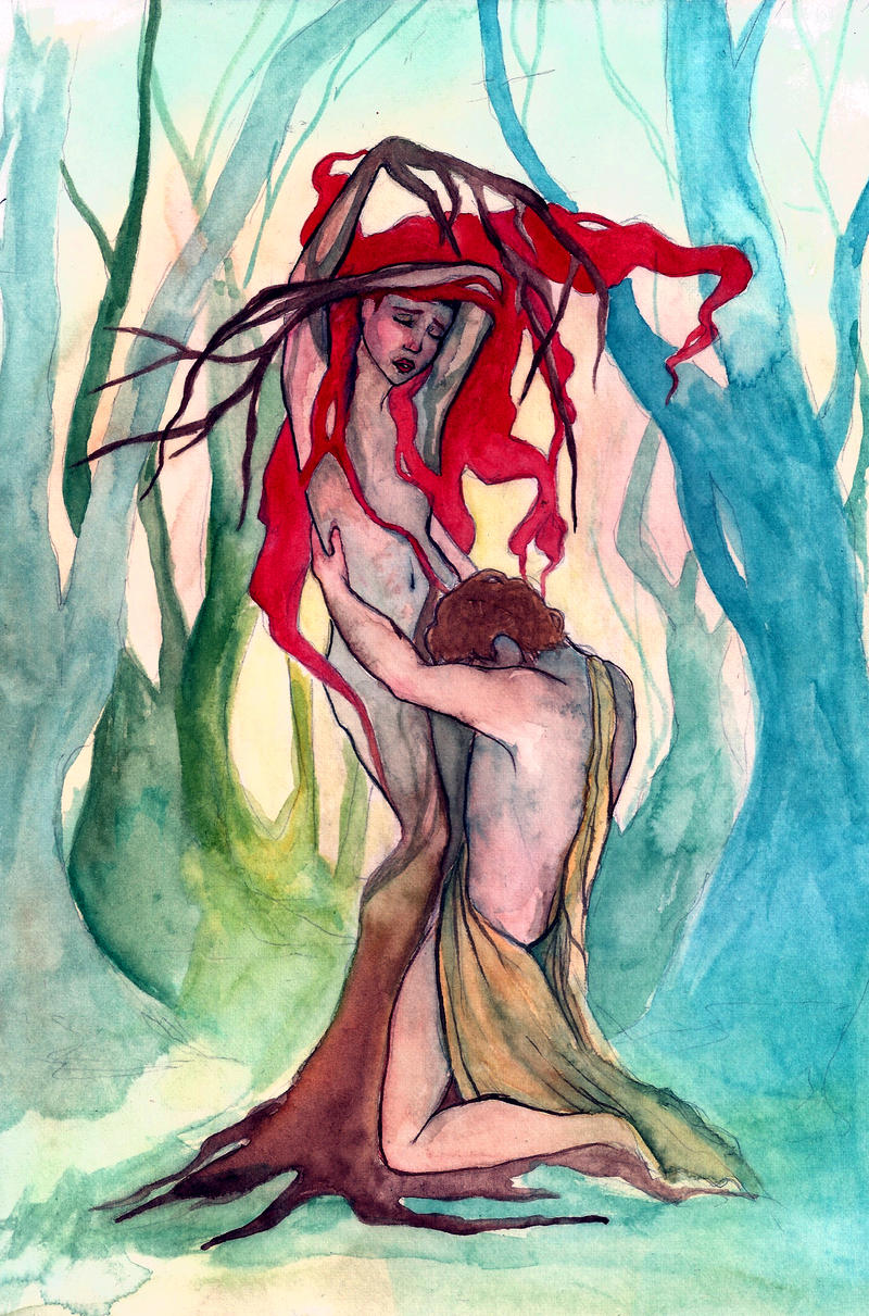 Daphne and Apollo by coleslawari