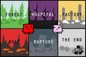 Super Meat Boy Worlds by jaego17