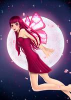 [Art trade] Sayuri in the moonshine by SweetyBat