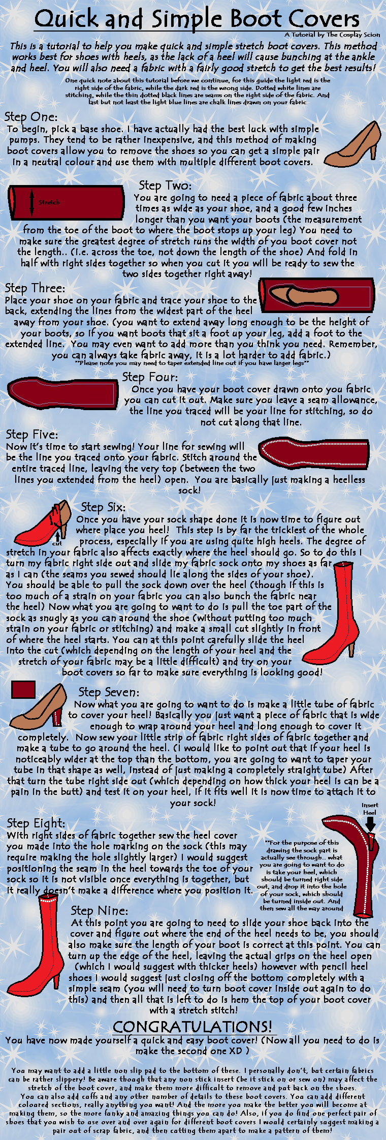 Stretch Boot Cover Tutorial