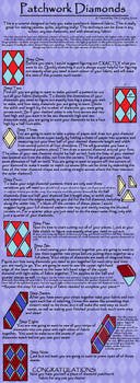 Diamond Patchwork Tutorial by The-Cosplay-Scion