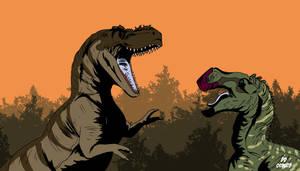 Appalachiosaurus Attacks! (Bill Watterson Style)