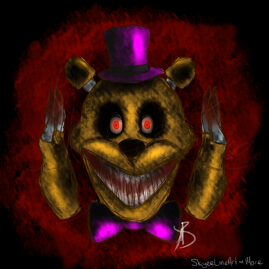 Nightmare Fredbear by SkyeeLine