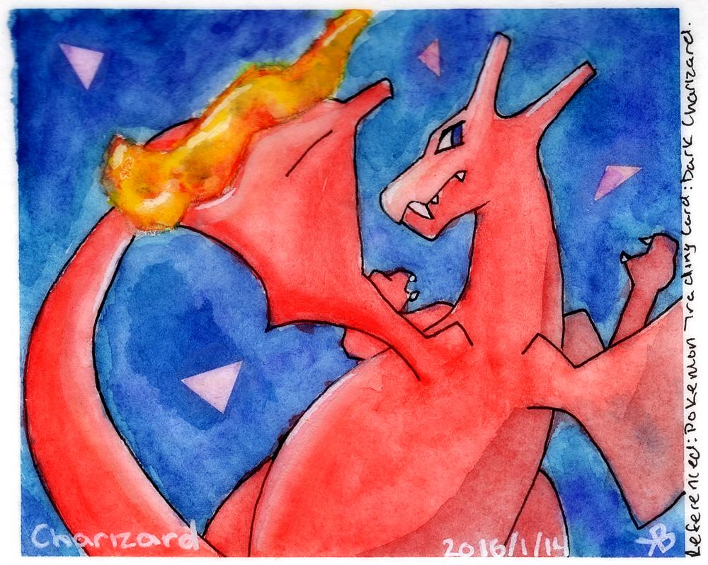 Charizard - Watercolor by SkyeeLine