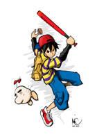 Saturn and Ness by Bonus-kun