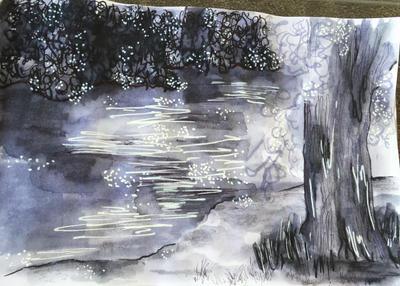 On the River's Edge by Nadroj-kun