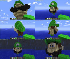 Luigi is a Blockhead by Edofenrir