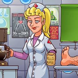 Terraria Nurse by Edofenrir