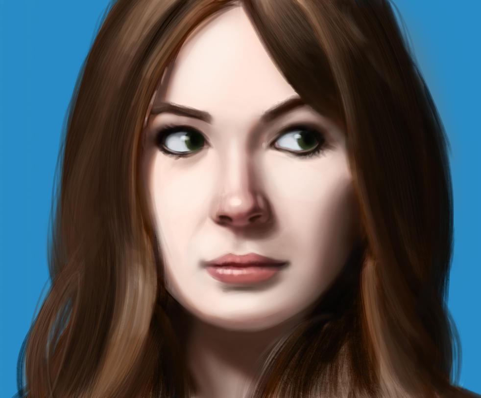 Karen Gillan (aka Amy Pond - Doctor Who) by Thunder-B