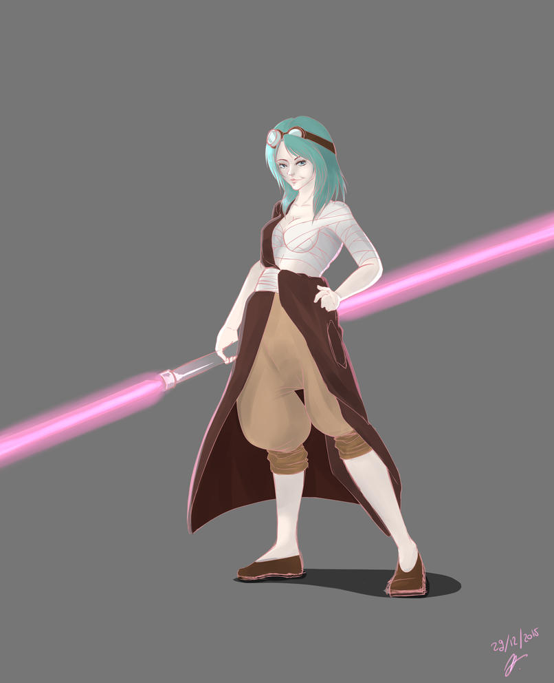 Now i have a Lightsaber, Yippee ki yay by Hermes04