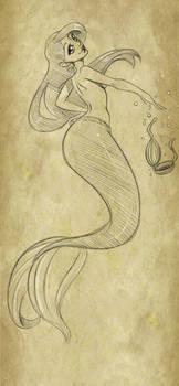 Little sketch of a little mermaid :D
