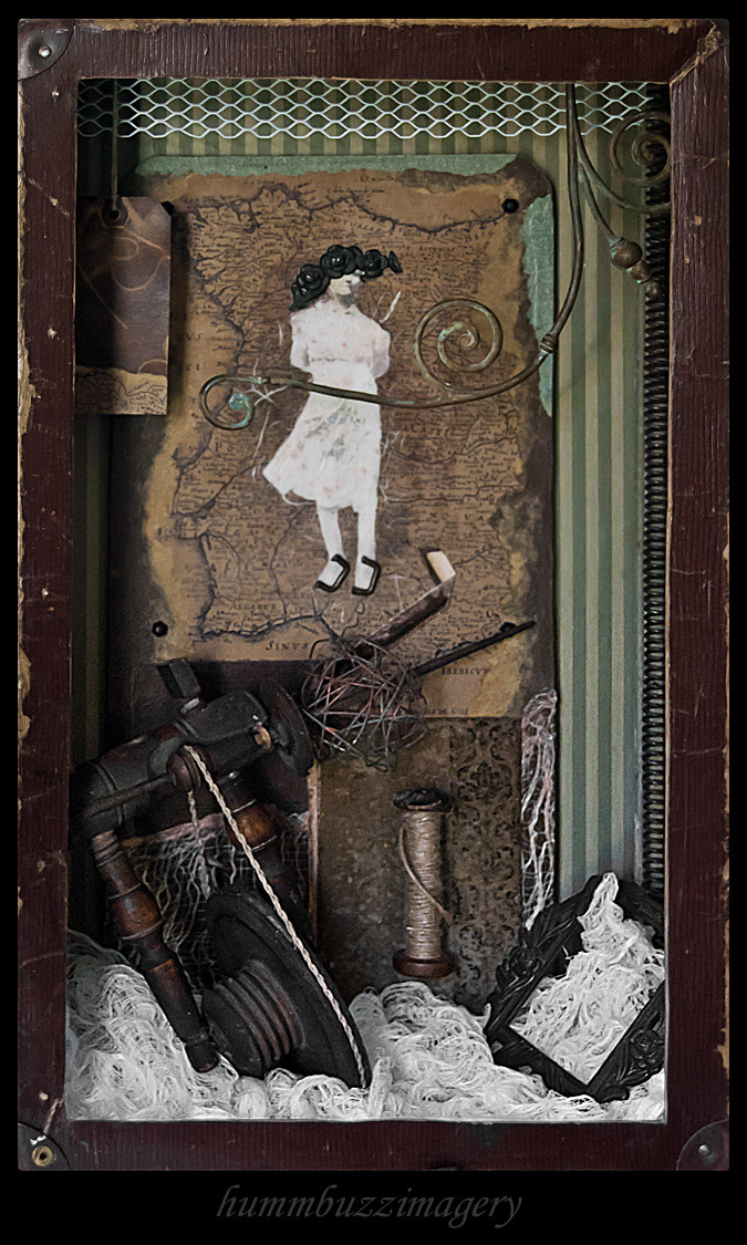 Spinstress...assemblage by hummbuzz