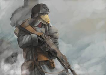 Death Korp of Krieg guradsman by NonArk