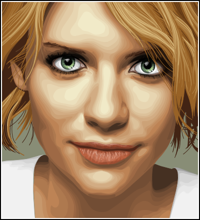 Claire Danes vectorstyle thing by Clutterbug