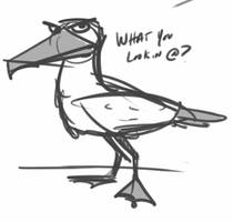 Angry Seagull by rydirector01