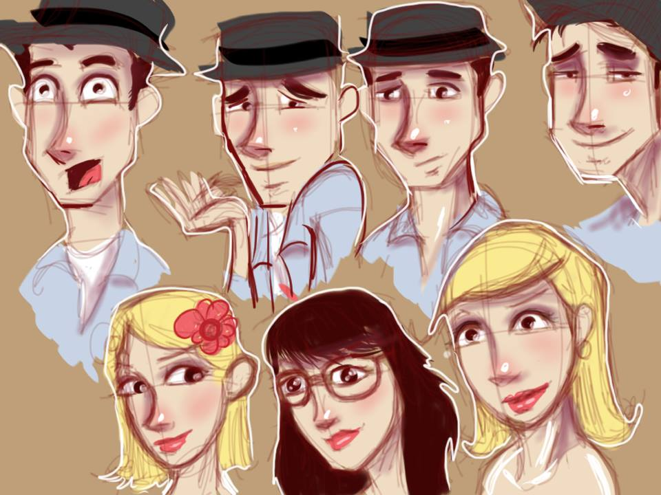 1930's Swing Sketches by rydirector01