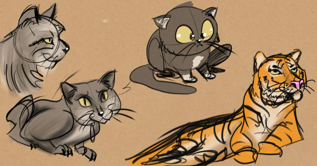 Sketchdump Cats by rydirector01