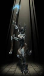 Death's Hound Stalking by ladyofdragons