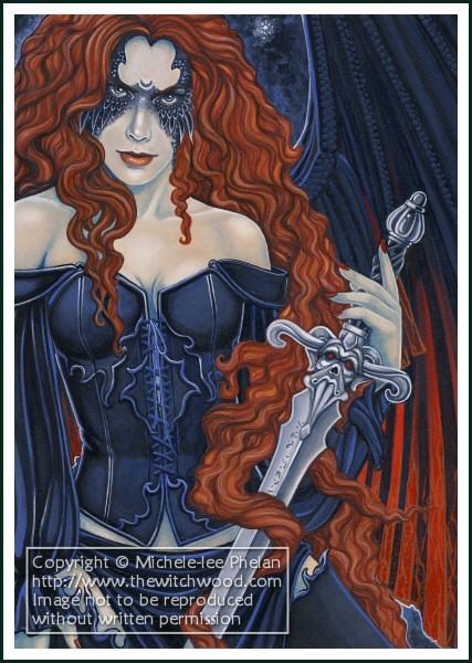 The Morrighan - Goddess by ravynnephelan