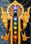 Dreams of Gaia Tarot - Ten of Fire