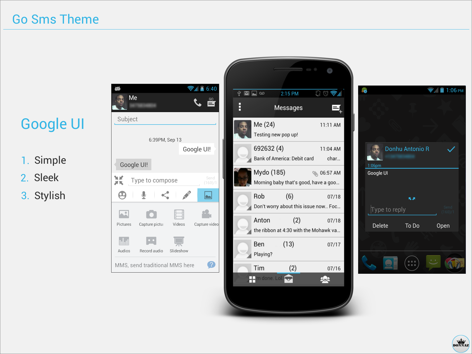 Go Sms Theme - Google UI by kingdonnaz