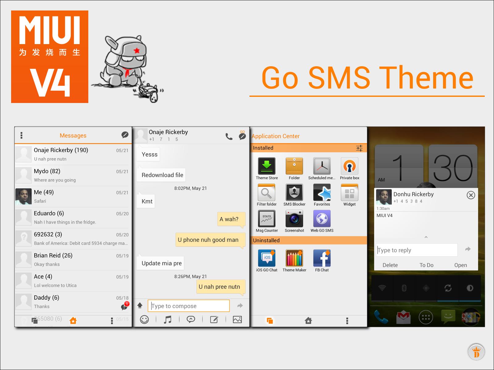 Go SMS MIUI V4 THEME by kingdonnaz