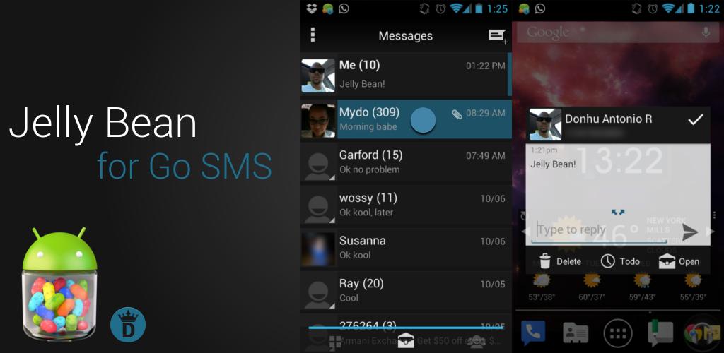 Jelly Bean Go SMS Theme by kingdonnaz