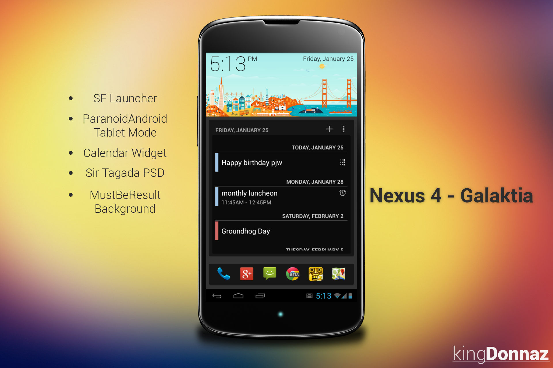 Nexus 4 - Galaktia by kingdonnaz