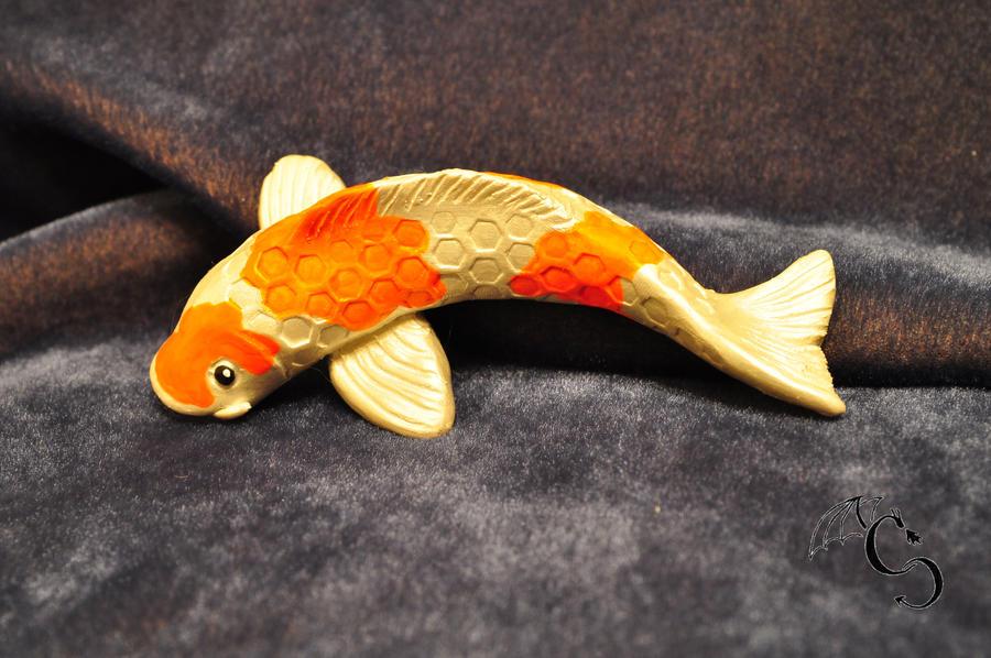 Koi fish sculpture by coreychiev on deviantart for Koi fish statue