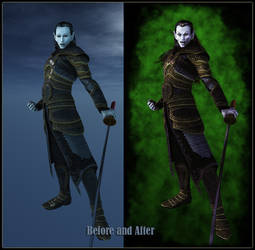 Vampire Before and After by 3D-Fantasy-Art