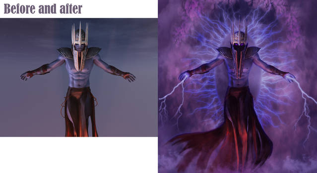 Storm before and after