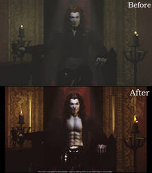 Hell's Prince Before and After by 3D-Fantasy-Art