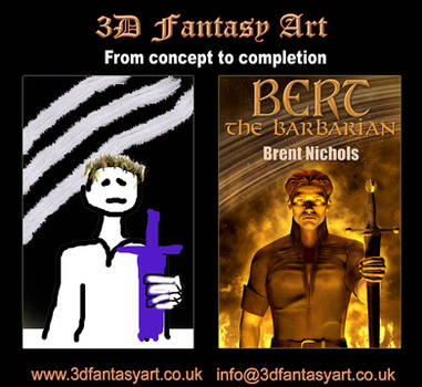 Concept to Completion: Bert The Barbarian by 3D-Fantasy-Art