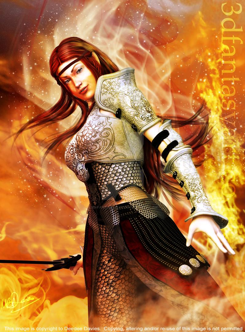 Fire Elf by 3D-Fantasy-Art