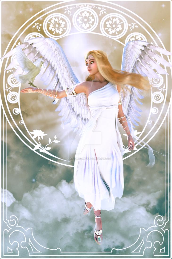 Fluffy Angel by 3D-Fantasy-Art