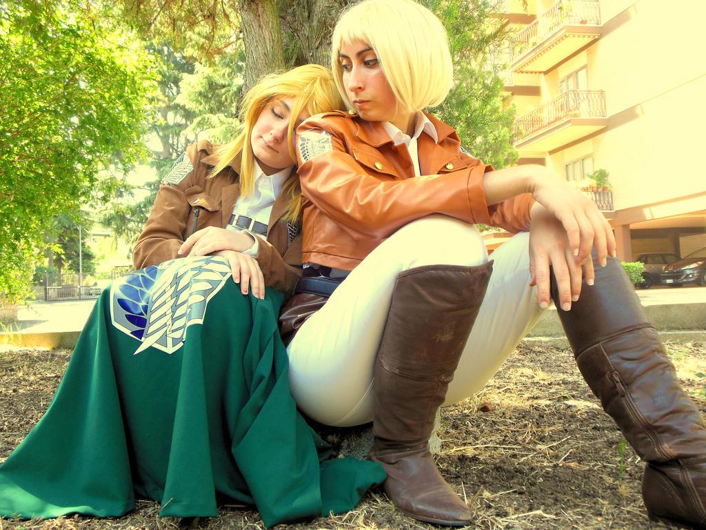 Christa and Armin -Shingeki no Kyojin by mory-chan