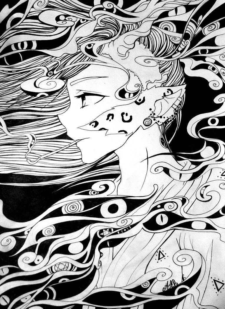 Zine/Fumer yeux by Alila-Art