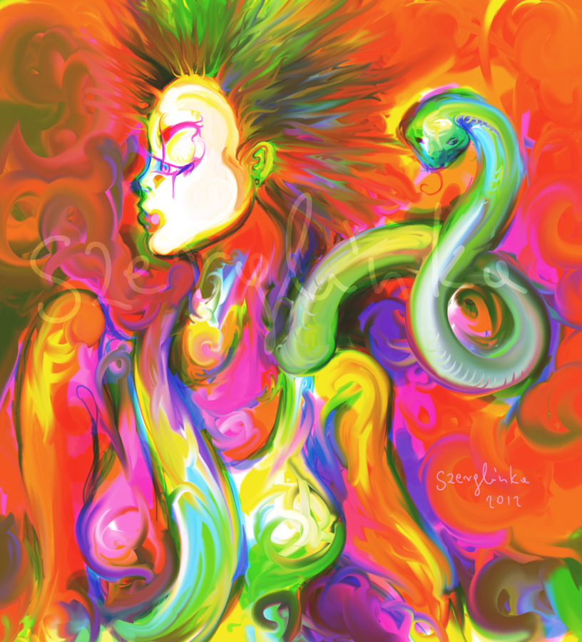 Eve and Snake by szerglinka