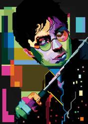 Harry Potter Pop Art Portrait by iamtherealsagar