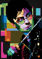 Harry Potter Pop Art Portrait by iamtherealsagar