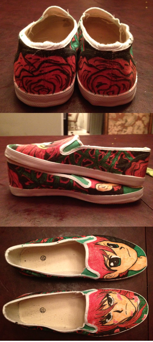 Custom Kurama Shoes by KakuGiraffe