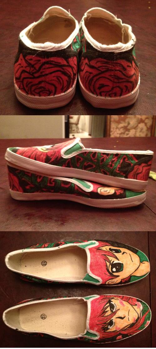 Custom Kurama Shoes by KakuGiraffe