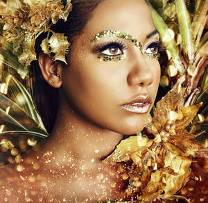 Gold Lion by Laura-Ferreira
