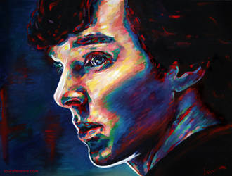 Benedict Cumberbatch as Sherlock Holmes by Laura-Ferreira