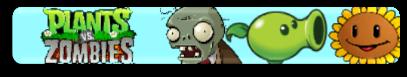 Plants versus zombies fan button